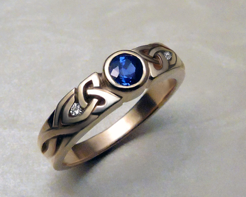 Narrow, Trinity Knot, Celtic Engagement Ring.
