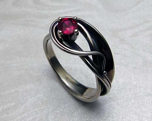Ruby engagement ring...