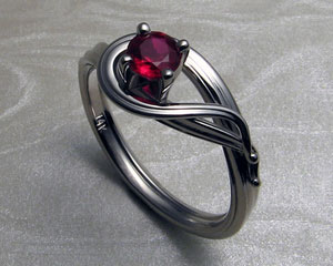 ruby engagement ring - Ruby Wedding Ring