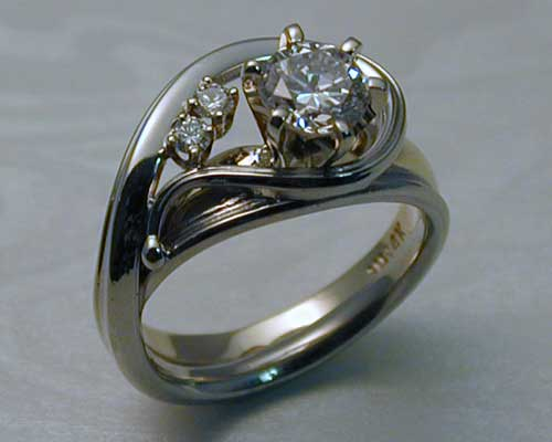 Unique Handcrafted Engagement Ring Enhancer Set Metamorphosis Jewelry