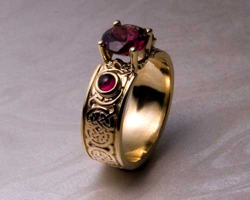 Custom, Celtic Engagement Rings.