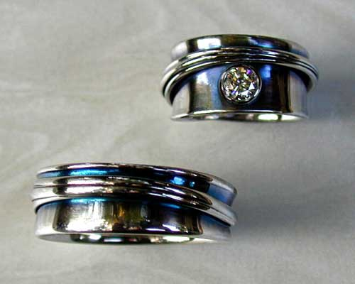 Unique and Unusual Wedding Rings Custom Made to Order Design
