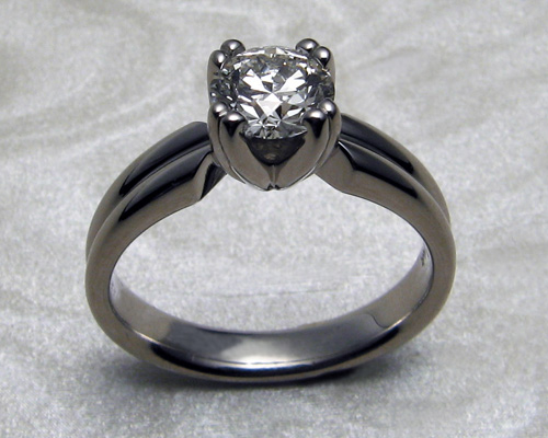 Split band solitaire engagement ring.