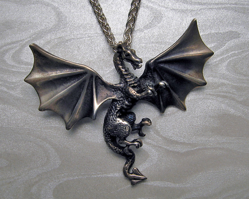 Dragon with wings pendant.