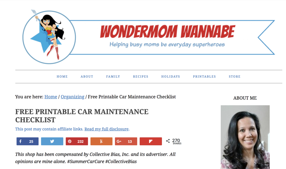 Screenshot of  Wondermomwannabe.com