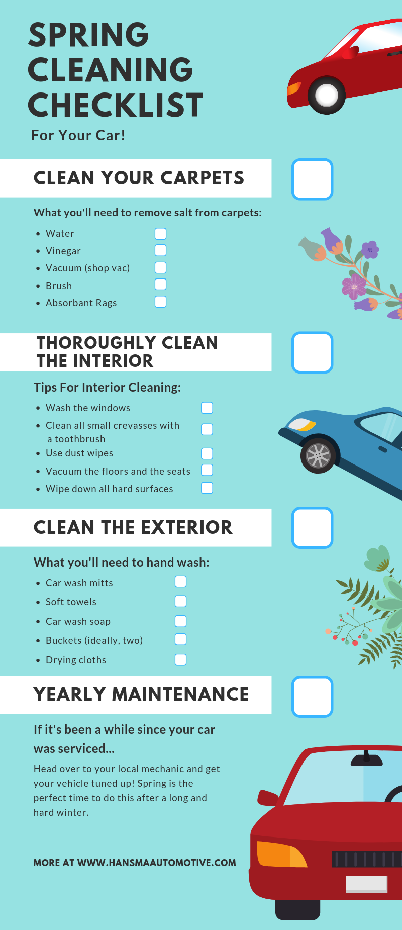 Spring Cleaning Checklist For Your Car - FREE Downloadable PDF