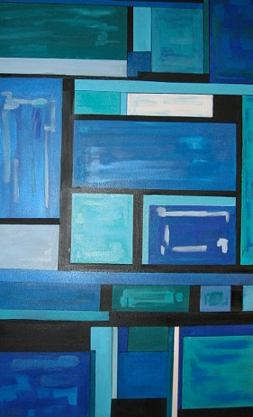 Title: Blue Squared