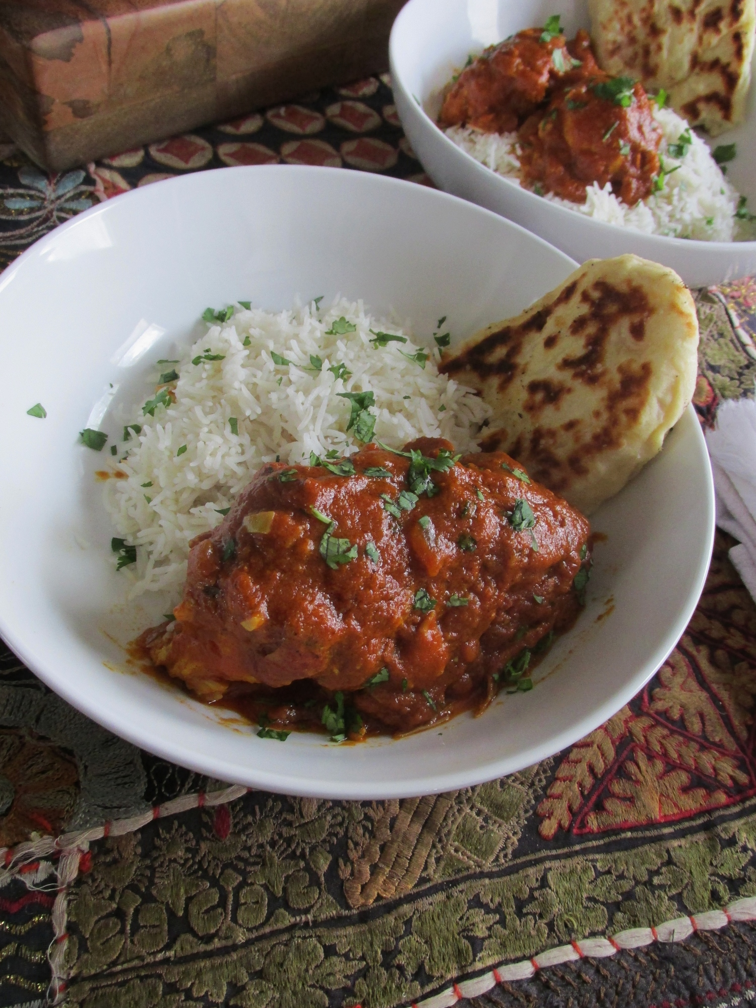 Indian Butter Chicken And Homemade Naan My Diary Of Us