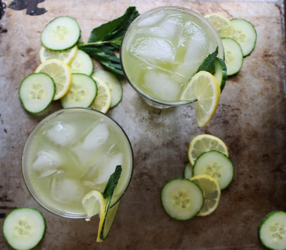 Cucumber Mint Cocktail with Honeysuckle Vodka: My Diary of Us