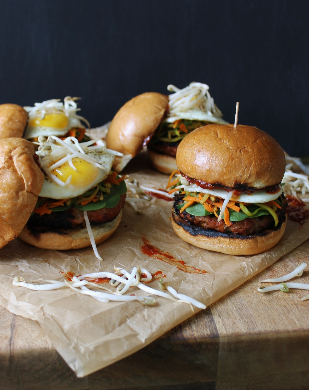 Bibimbap Pork Burgers: My Diary of Us