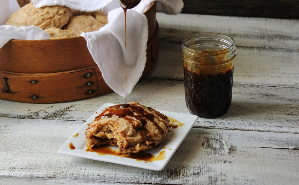 Whole Wheat Drop Biscuits with Molasses Butter Glaze: My Diary of Us