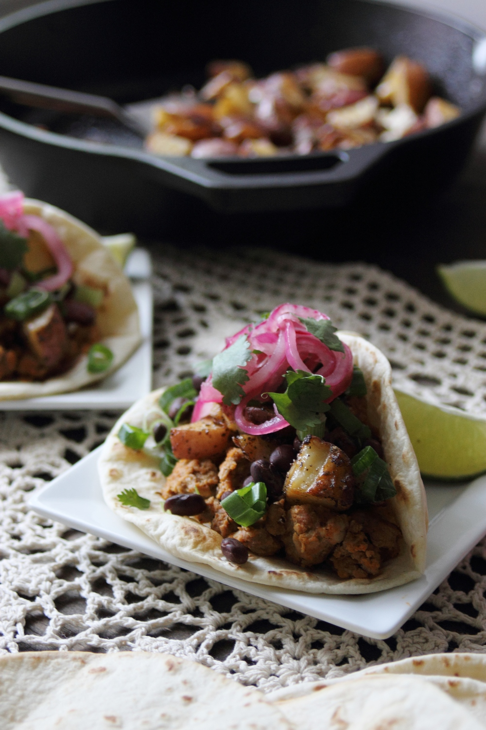 Healthy Chipotle Turkey and Spiced Potato Tacos: My Diary of Us