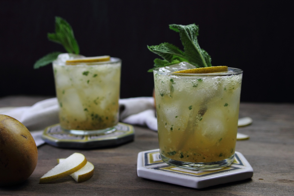 Asian Pear and Mint Bourbon Sparkler: My Diary of Us