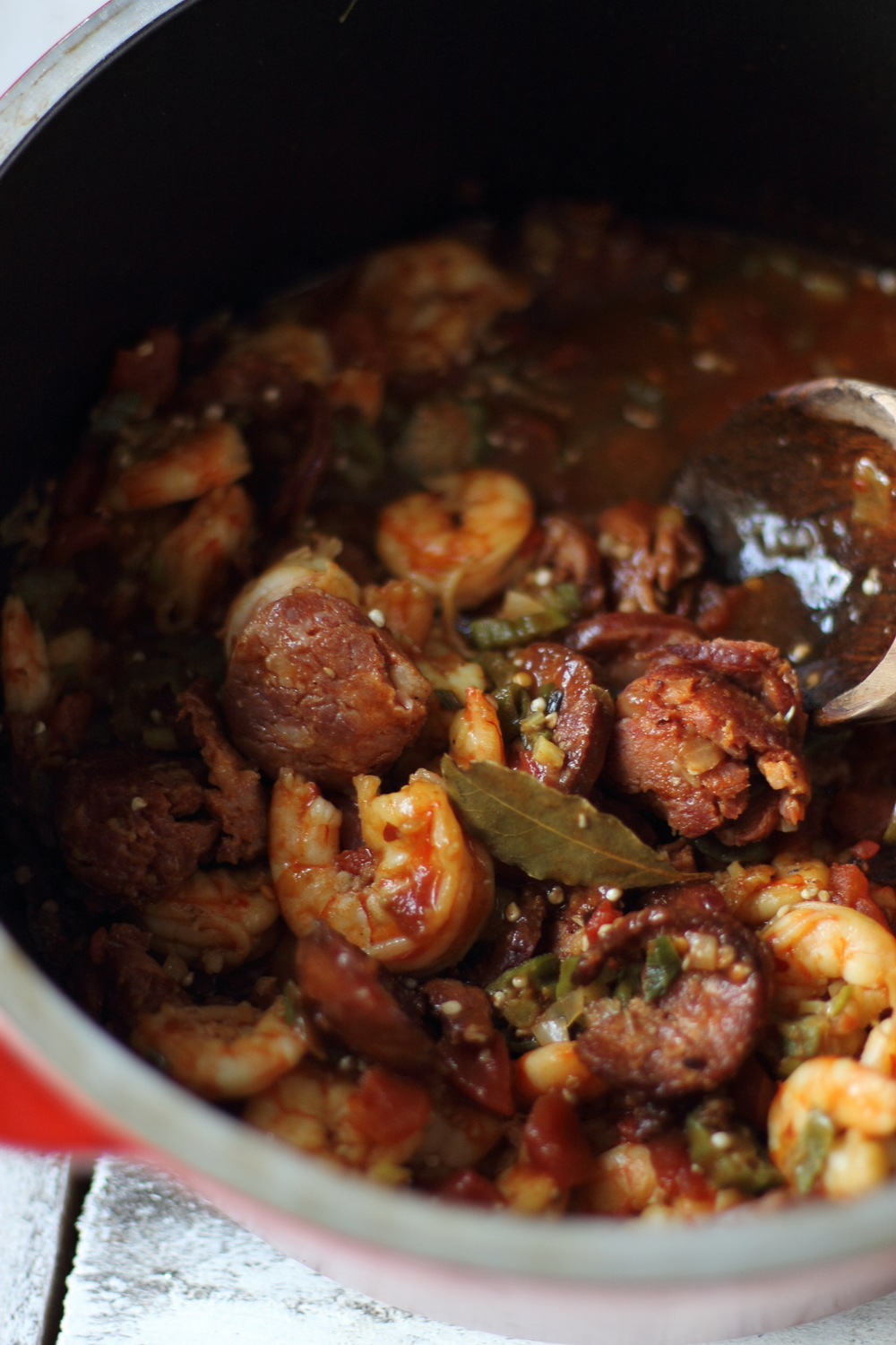 Shrimp, Andouille, and Okra Stew: My Diary of Us