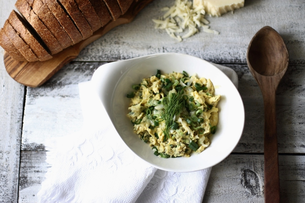 Green Onion, Dill, and White Cheddar Scramble: My Diary of Us