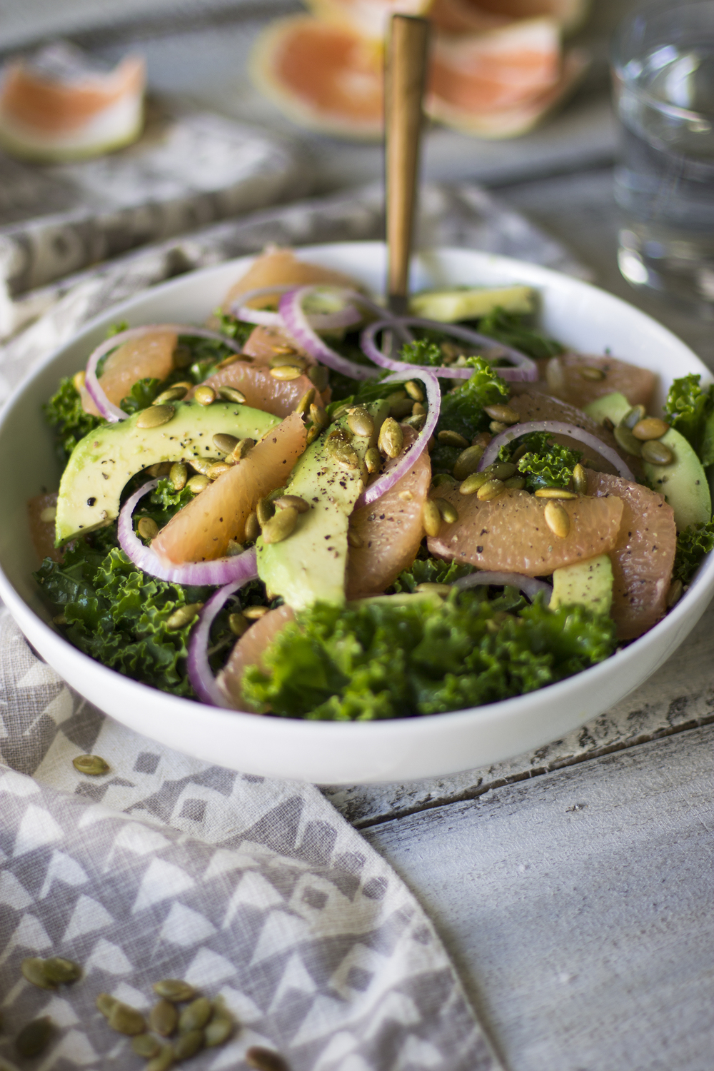 Kale, Grapefruit, and Pepita Salad: My Diary of Us