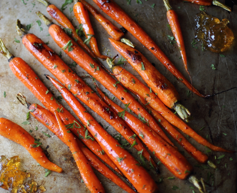 Pepper Jelly Roasted Carrots: My Diary of Us