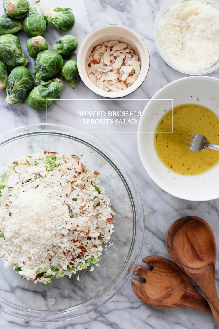 Shaved Brussel Sprout Salad: Upperlyne & Co.