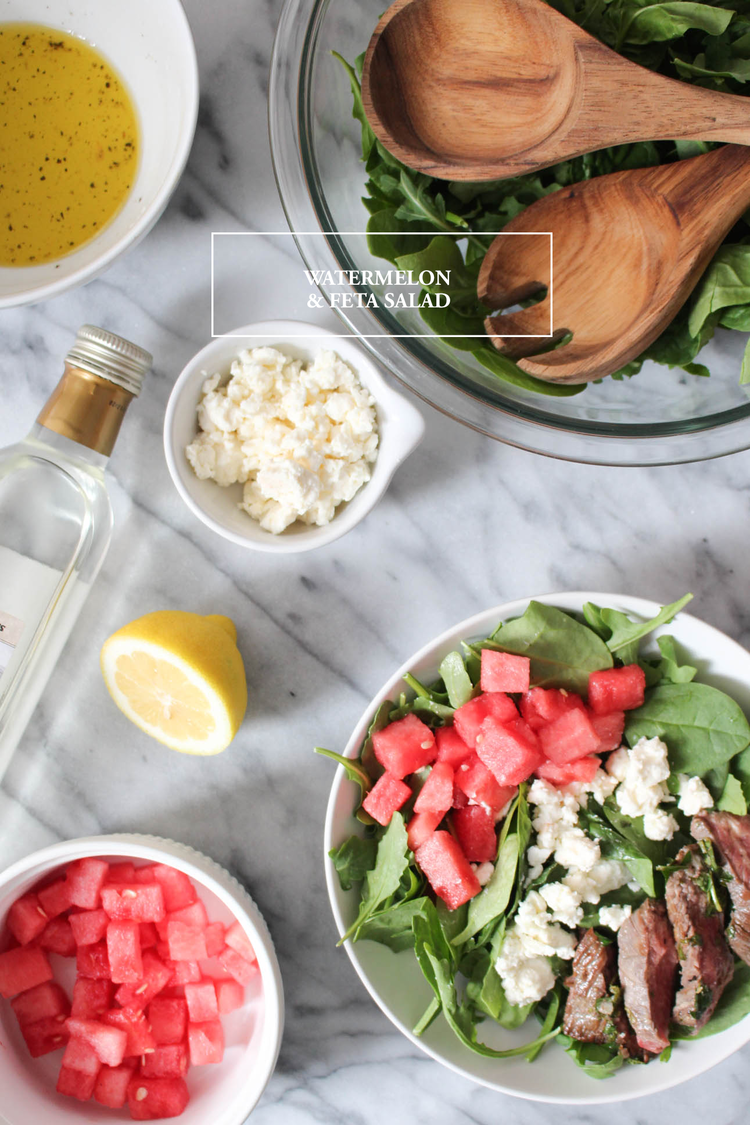 Watermelon Feta Salad: Upperlyne & Co.