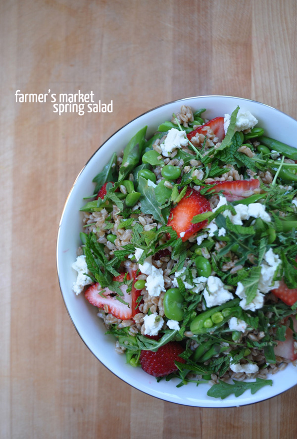 Farmer's Market Spring Salad: A Life Well Lived Blog