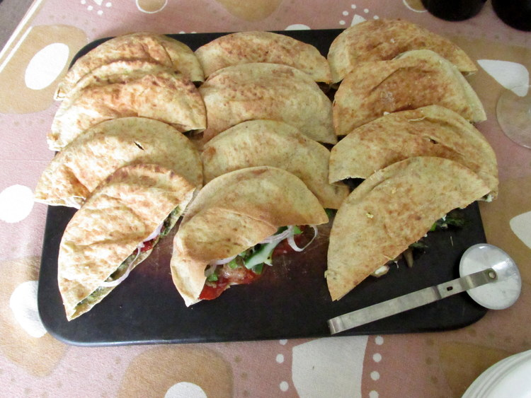 Whole Wheat Pita Calzones: My Diary of Us