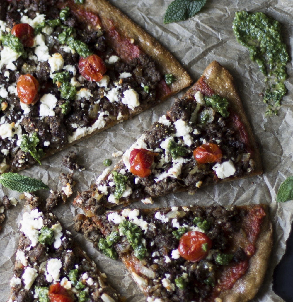 Roasted Tomato and Lamb Pizza: My Diary of Us