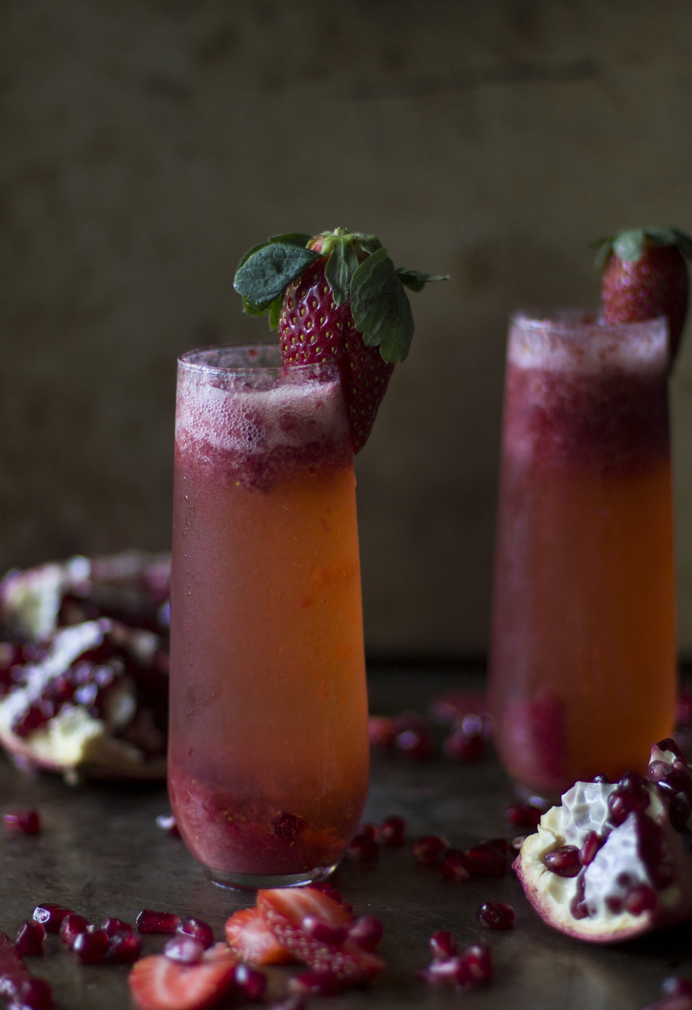 Strawberry and Pomegranate Champagne: My Diary of Us