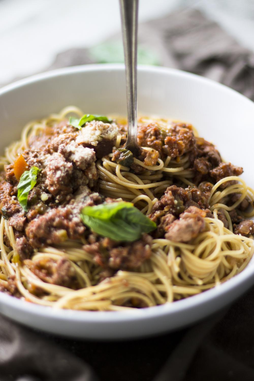 Healthy Turkey Spaghetti Bolognese: My Diary of Us