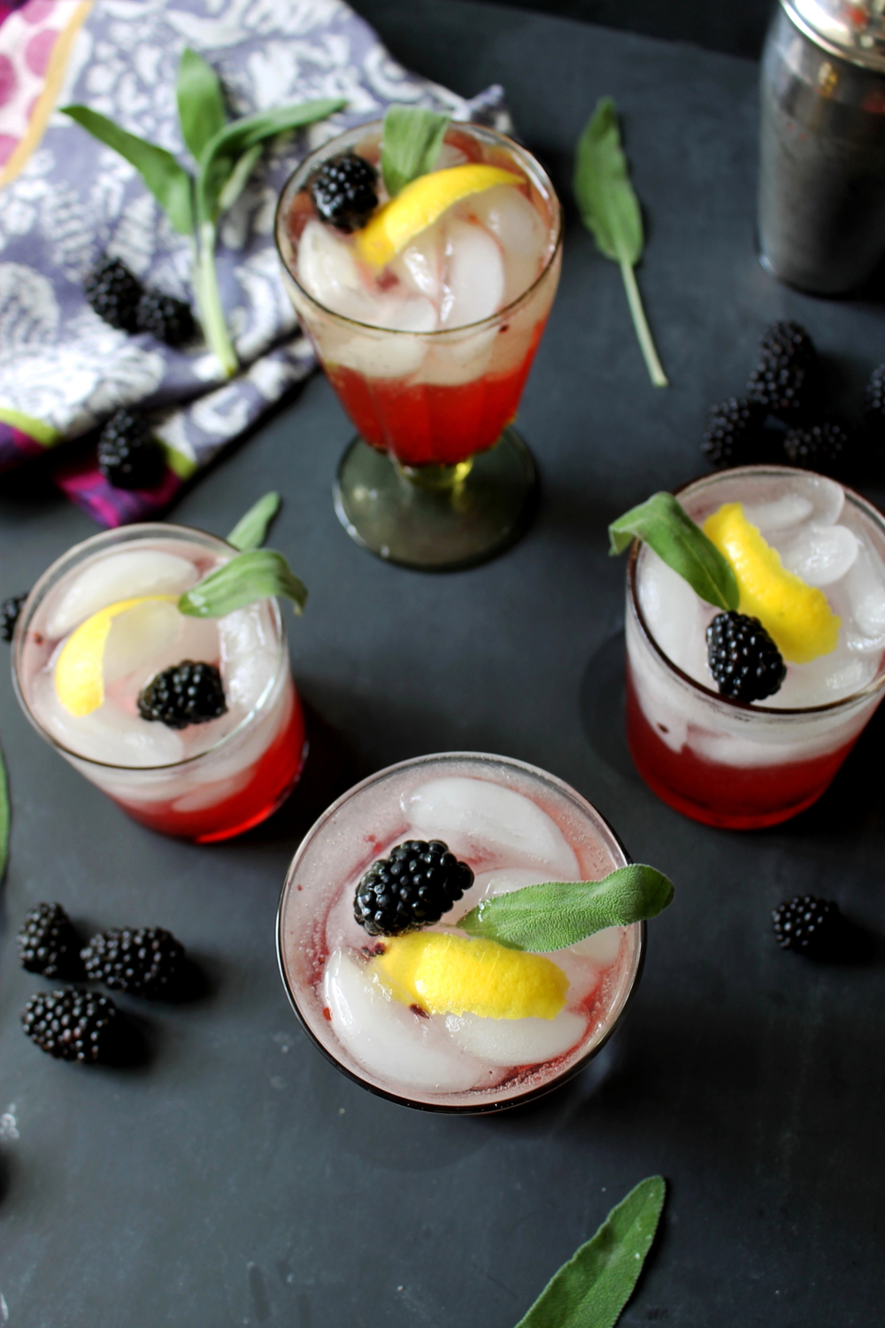 Blackberry Whiskey and Sage Cocktail: My Diary of Us
