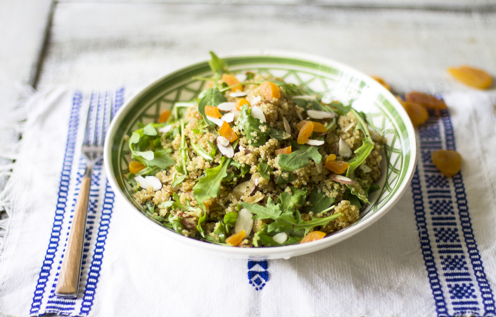 Apricot, Arugula, and Quinoa Salad with a Cumin Vinaigrette: My Diary of Us