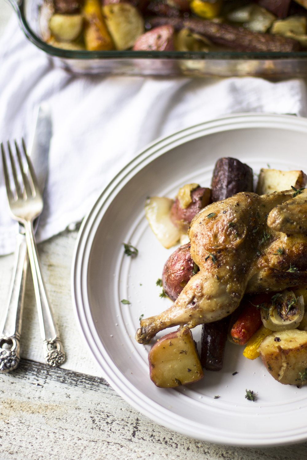 Roasted Cornish Hens and Root Vegetables: My Diary of Us