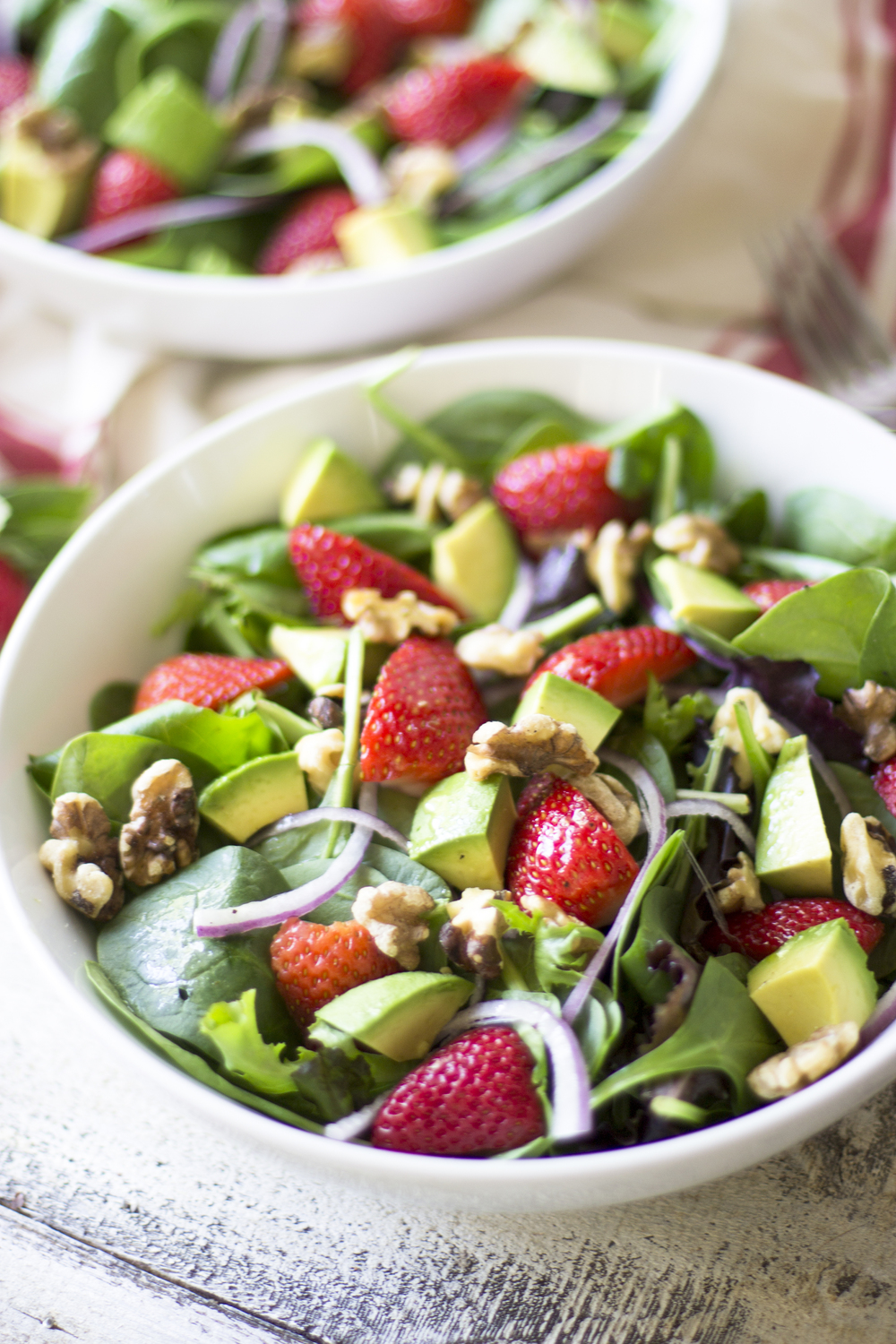 Strawberry, Avocado, and Walnut Salad: My Diary of Us