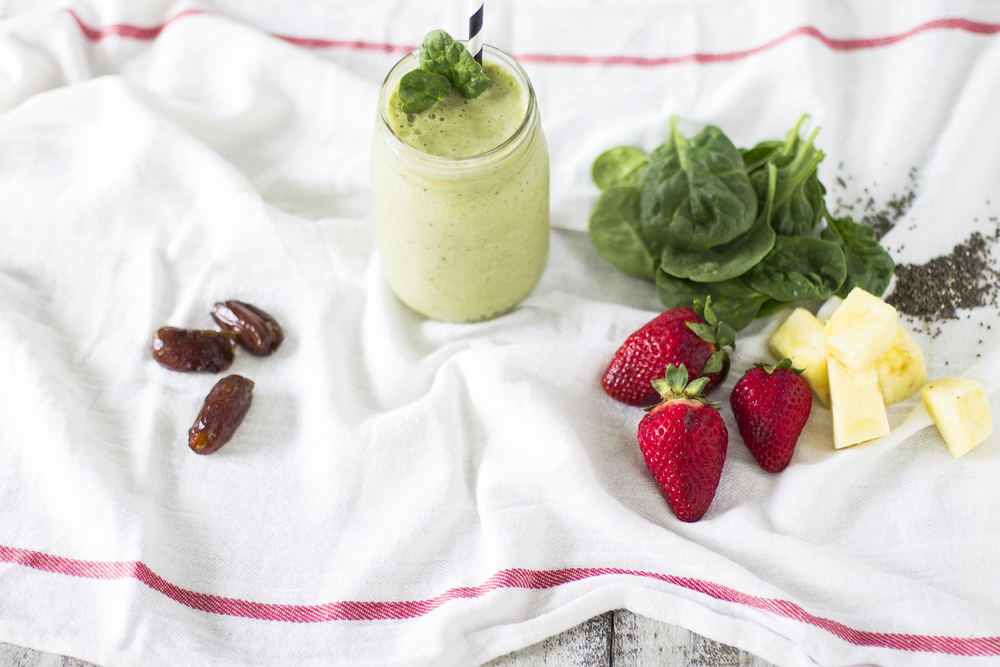 Pineapple, Strawberry, and Spinach Smoothie: My Diary of Us
