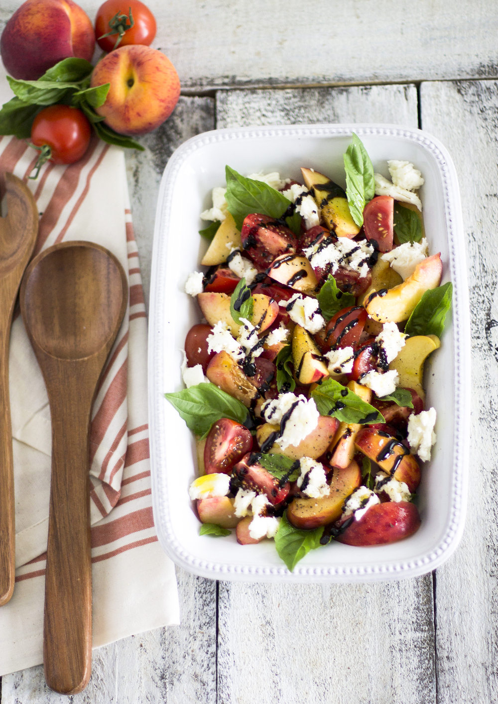 Peach Caprese Salad: My Diary of Us