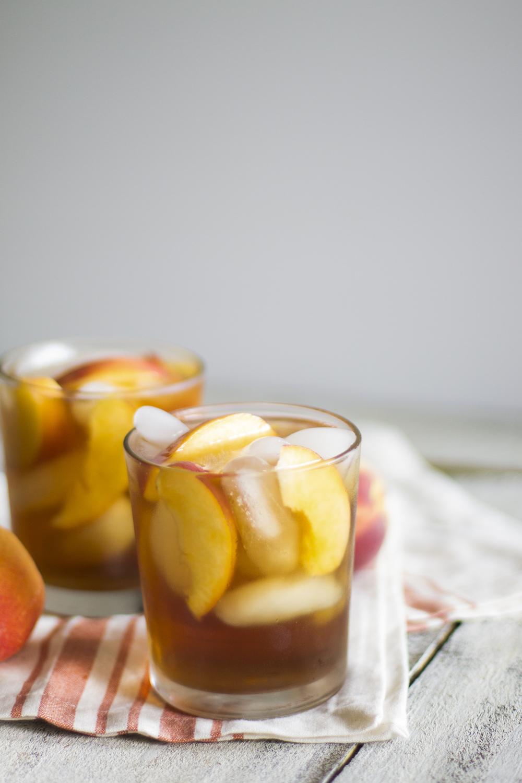 Peach Sweet Iced Tea with Bourbon: My Diary of U