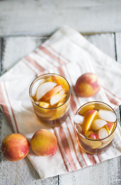Peach Sweet Iced Tea with Bourbon: My Diary of Us