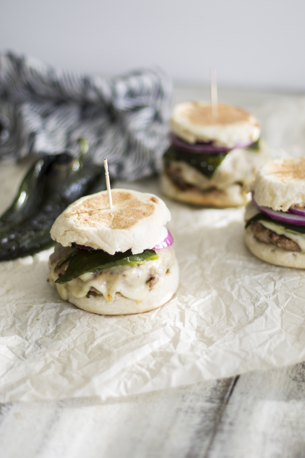 Roasted Poblano Pork Burgers: My Diary of Us
