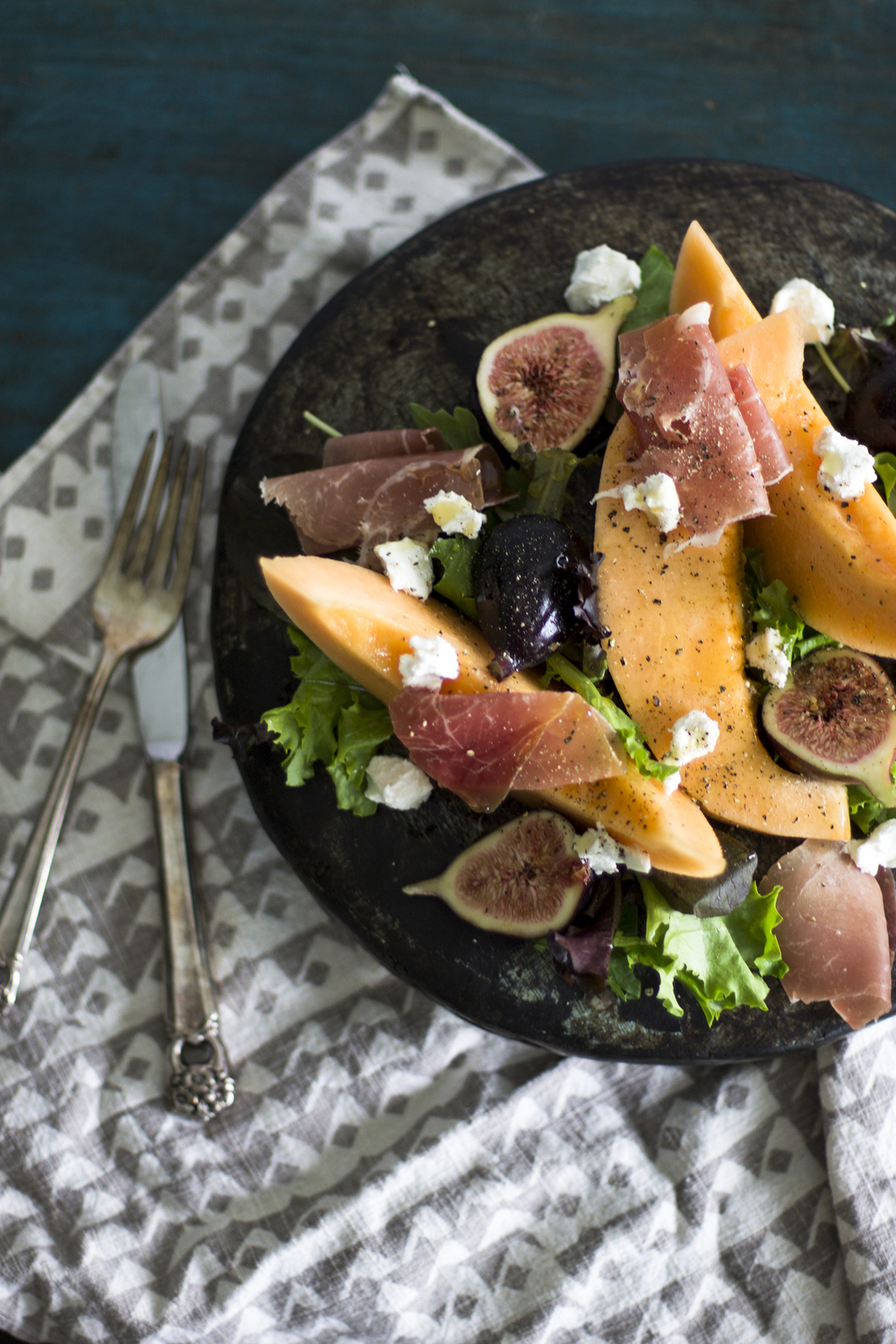 Fig and Melon Salad with Prosciutto: My Diary of Us