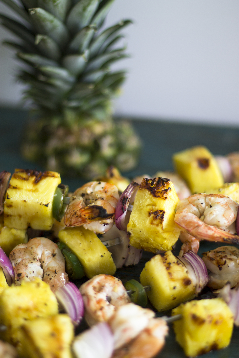 Grilled Pineapple and Shrimp Skewers: My Diary of Us