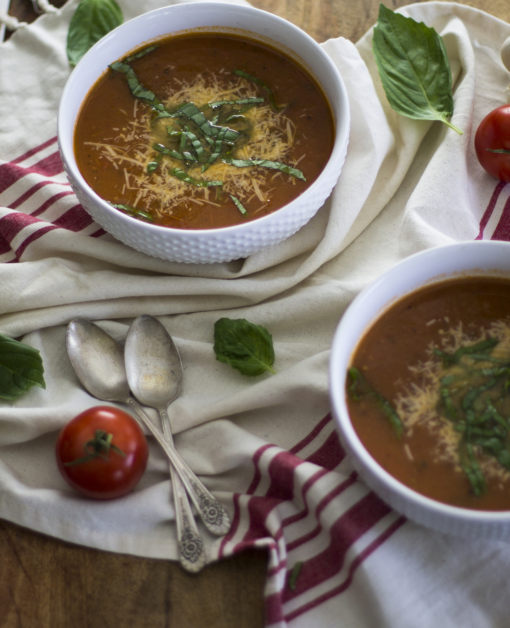 Spicy Roasted Tomato Basil Soup: My Diary of Us