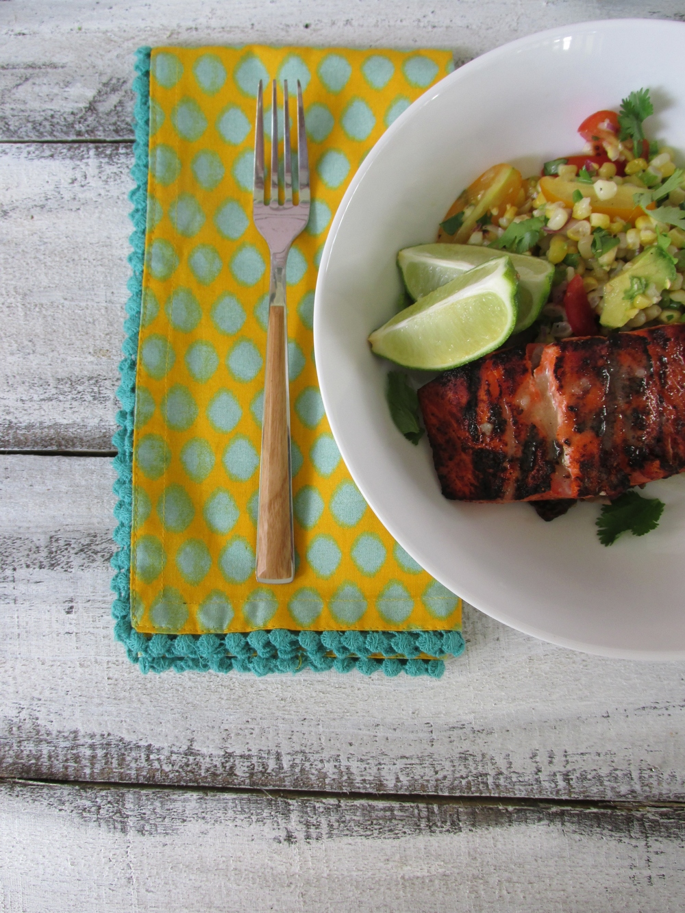 Chili Lime Glazed Salmon with Fresh Corn salad: My Diary of Us