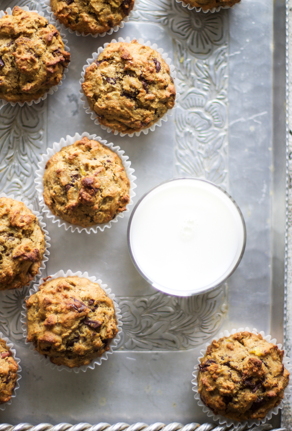 Healthy Chocolate Chip Pecan Muffins: My Diary of Us