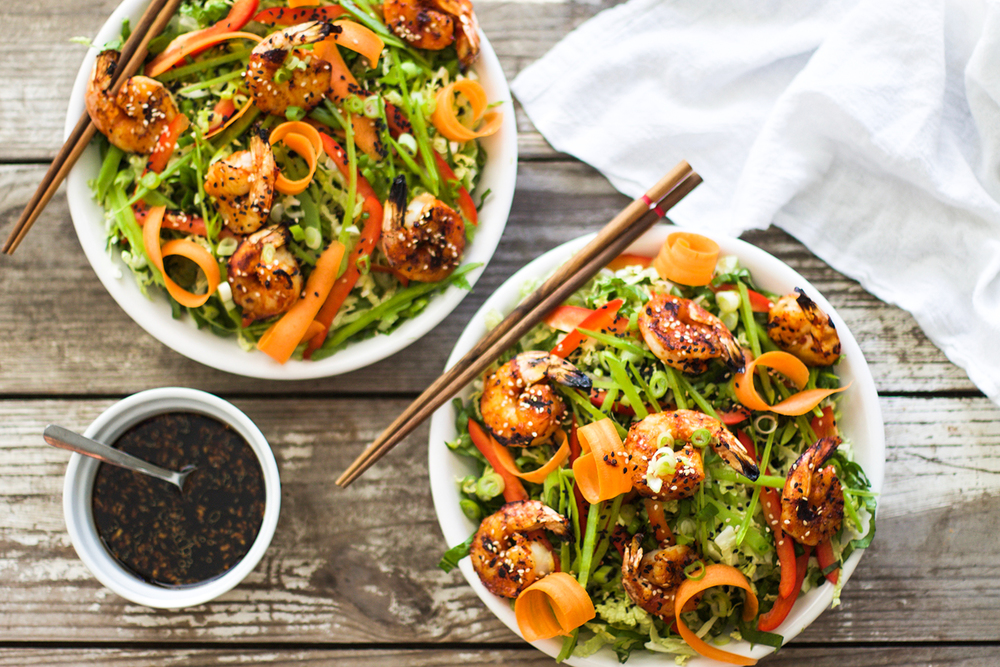 Sriracha Honey Glazed Grilled Shrimp Salad: My Diary of Us