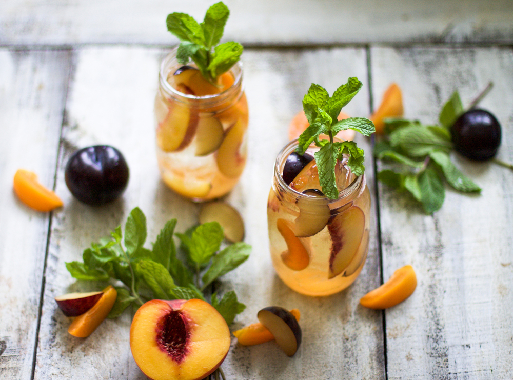 Single Serving Stone Fruit Sangria: My Diary of Us