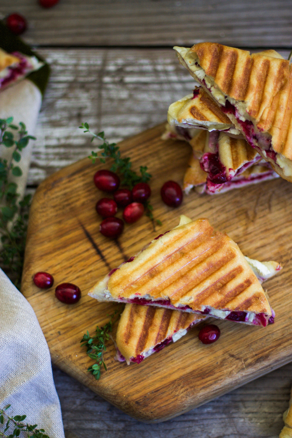 Brie and Roasted Thyme Cranberry Panini: My Diary of Us