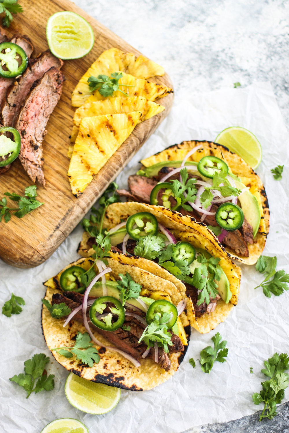 Grilled Pineapple and Flank Steak Tacos: My Diary of Us