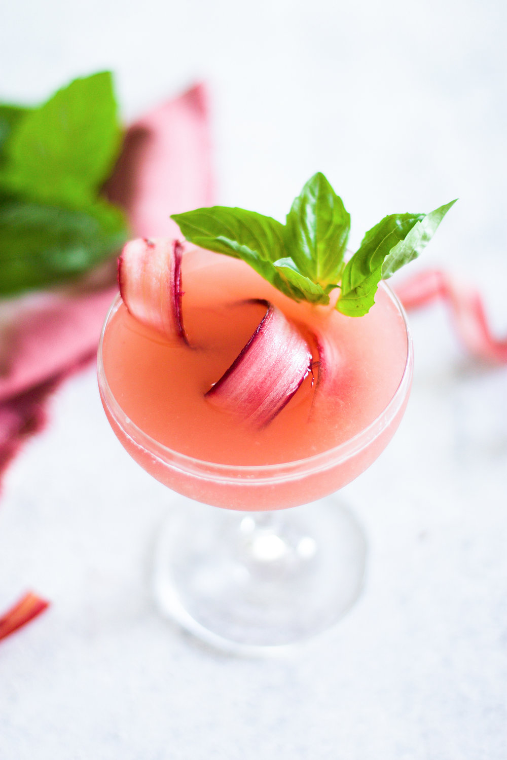 Rhubarb Basil Martini: My Diary of Us