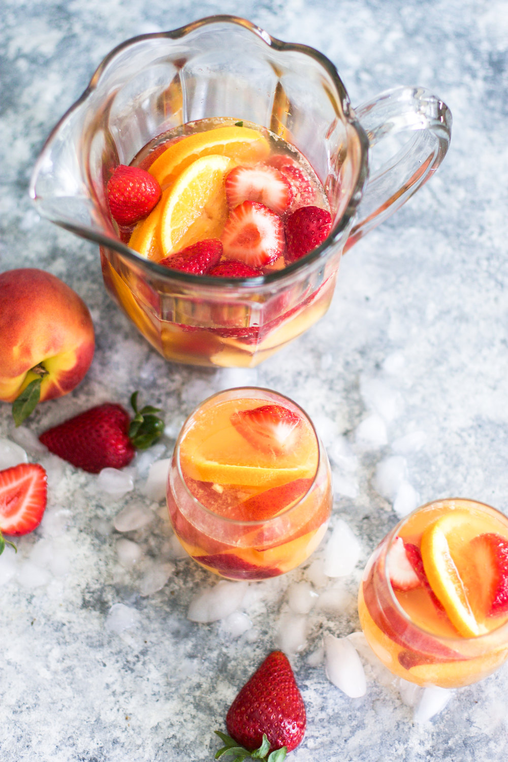 Sparkling Summer Peach Sangria: My Diary of Us