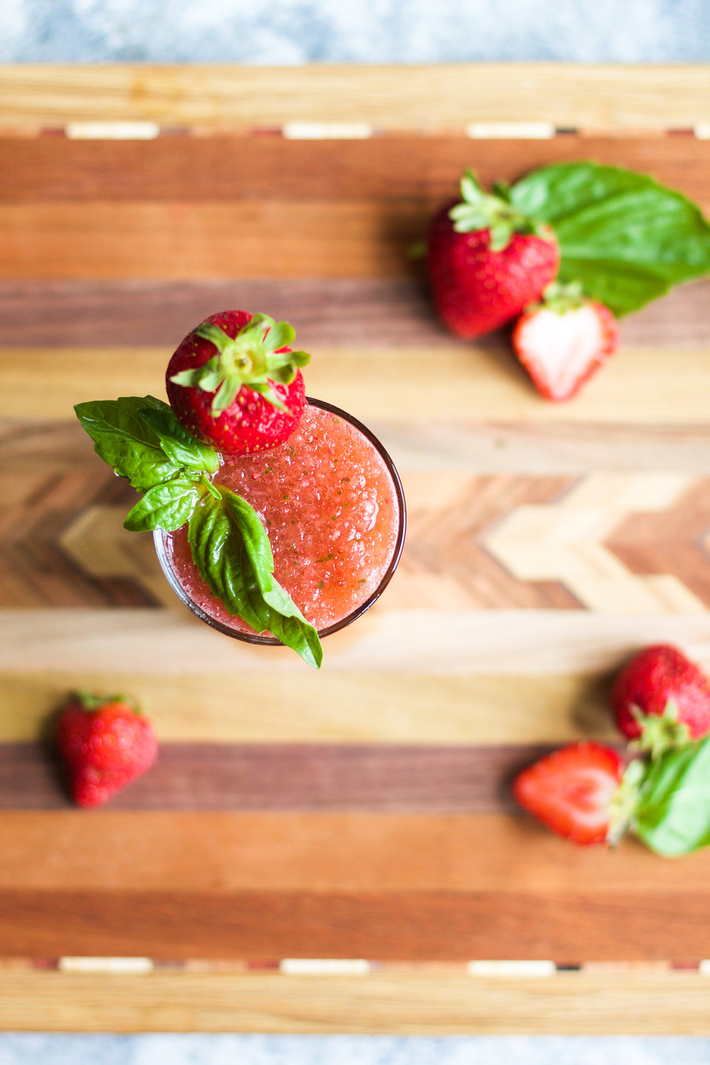 Frozen Strawberry Basil Mules: My Diary of Us