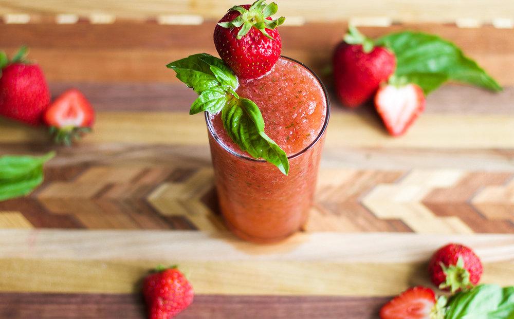 Frozen Strawberry Basil Mules: My Diary of Us